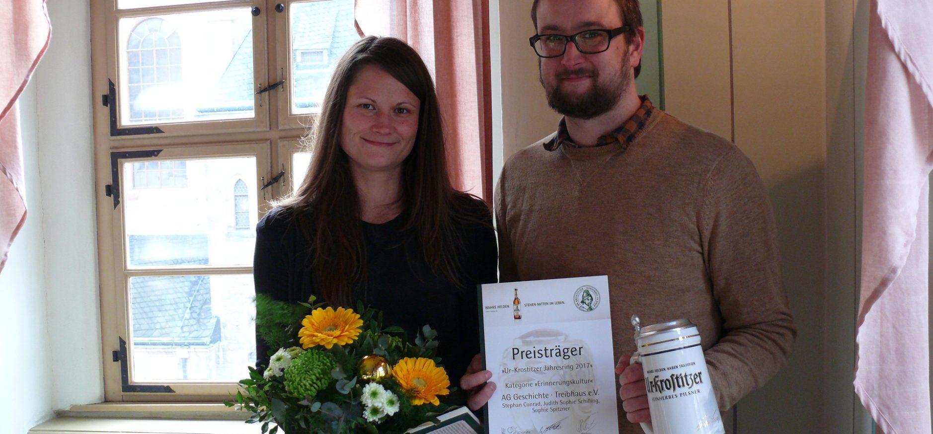 """AG Geschichte als Preisträger des """"Ur-Krostitzer Jahresring 2017"""" ausgezeichnet"""
